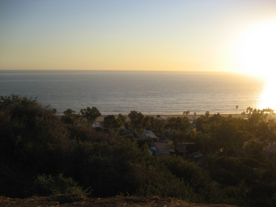 sunset view from pacific palisades