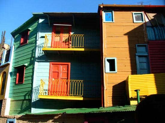Tourist love to see colorful buildings in La Boca